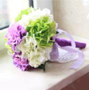 人造繡球新娘捧花