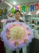 浪漫粉紫99顆金莎花束