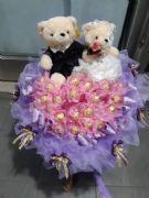 熊愛你求婚金莎花束