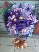 時尚紫金莎花束