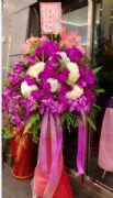 繡球蘭花高架花籃(單柱)